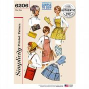 6206 Simplicity Pattern: Misses' Vintage Accessories